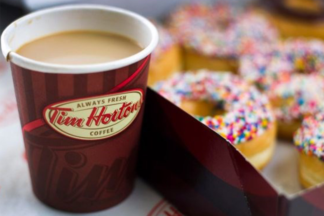 Tim Horton's coffee and donuts